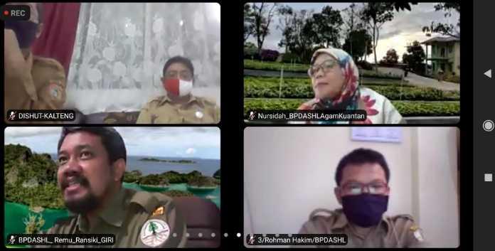 Wakil Menteri KLHK memimpin Webinar dalam pembahasan Rehabilitasi DAS(Daerah Aliran Sungai)