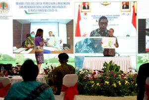 Wamen LHK memimpin Diskusi Webinar dalam Pembahasan Manfaat DAS kepada Masyarakat sekitar