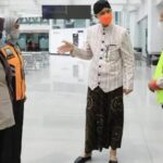 Gubernur Jawa Tengah Ganjar Pranowo sidak di Bandara Jenderal Ahmad Yani